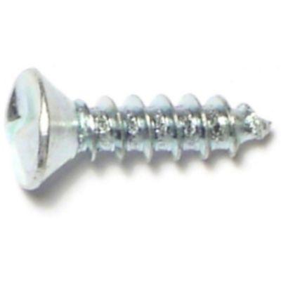 Tornillo p/chapa un solo sentido cabeza ovalada zinc 10 x 3/4 1 pz.