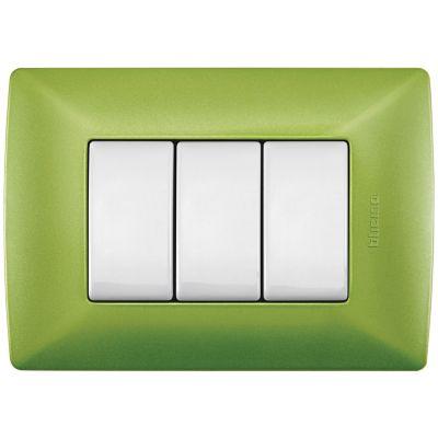 Placa de resina con chasis color Verde Jade 3 mód.