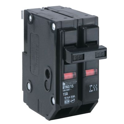 Interruptor termomagnético enchufable 2 x 15 A 120-240 V