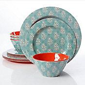 Vajilla Solina 12 piezas redonda melamina
