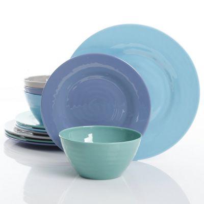 Vajilla Brist in Blue 12 piezas melamina