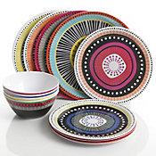 Vajilla Almira 12 piezas porcelana redonda