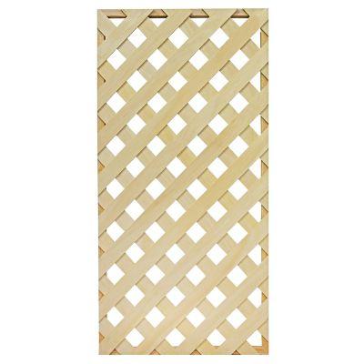 Enrejado diagonal madera chica c/marco jardín 60 cm x 1.20 m