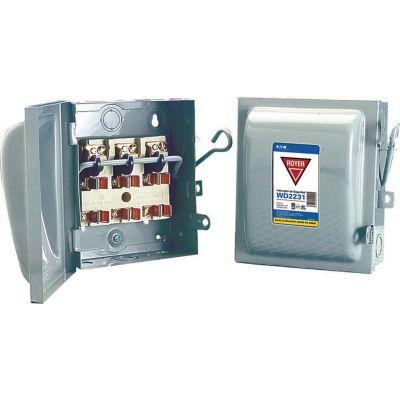 Interruptor de seguridad 3 x 30 120-240V 50-60Hz gris
