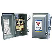 Interruptor de seguridad 2 x 30 120-240V 50-60Hz gris