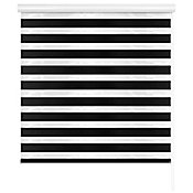 Persiana enrollableduo Wood negro 120x165 cm