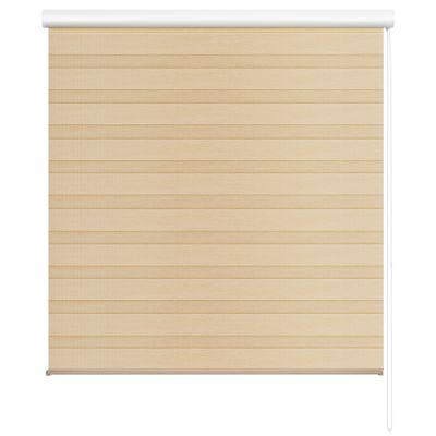 Persiana enrollable duo Wood crema 160x165 cm