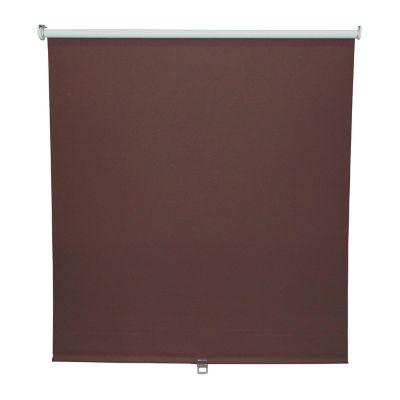 Persiana enrollable blackout sin cordón chocolate 120x190 cm