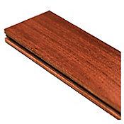 Muestra piso madera sólida Brazilian Cherry natura 10x10 cm