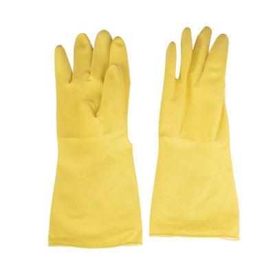 Guante de látex amarillo talla 8