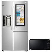 Refrigerador Instant View 26 Pies con Microondas