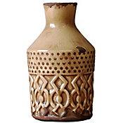 Florero de cerámica beige chico
