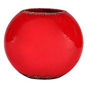 Florero de cerámica rojo grande
