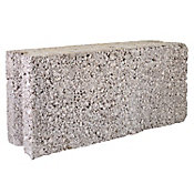 Block macizo liso 12 x 18 x 38 cm