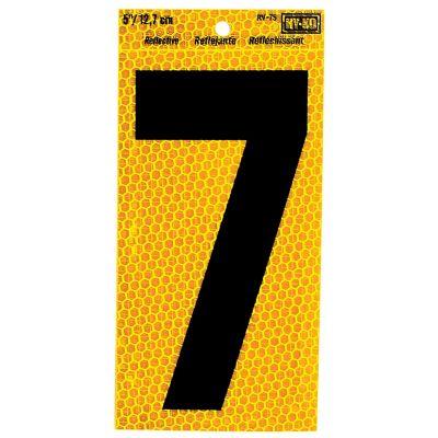 Numero reflectivo autoadherible color Amarillo # 7