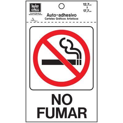 Senal No Fumar 13x18