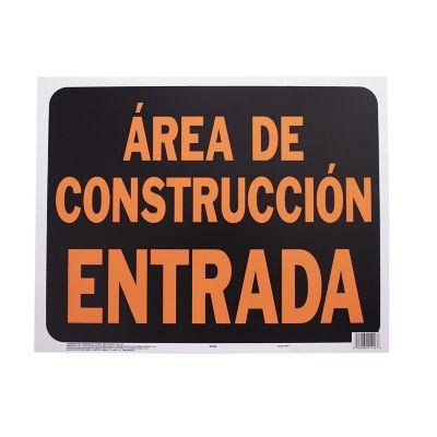 Senal Jumbo Area en Construccion Entrada