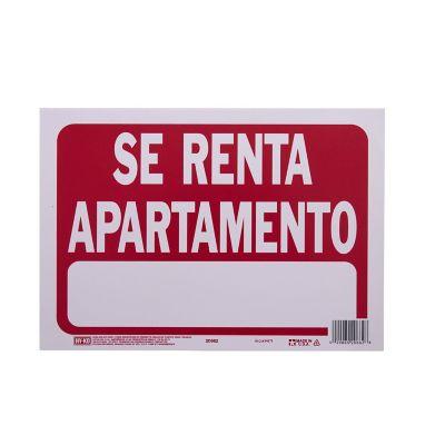 Senal Se Renta Apartamento color rojo 23x30