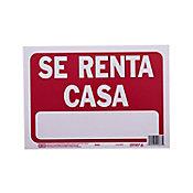 Senal Se Renta Casa color rojo 23x30