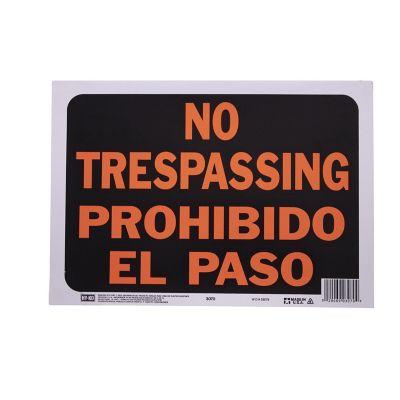 Senal Bilingue Prohibido el paso/No Trasspasing