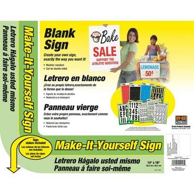Letrero para hacer su propio anuncio blanco de 36x46