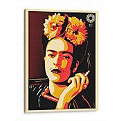 Lienzo decorativo Frida Kahlo en Pop Art 40x30 cm