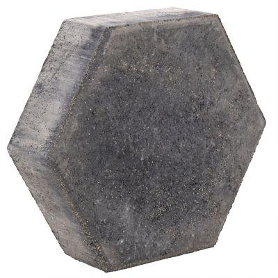 Adoquín hexagonal negro 24x24x6cm