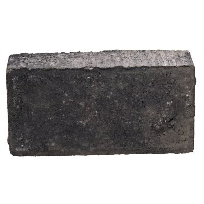 Adoquín rectangulo negro 10x20x6cm
