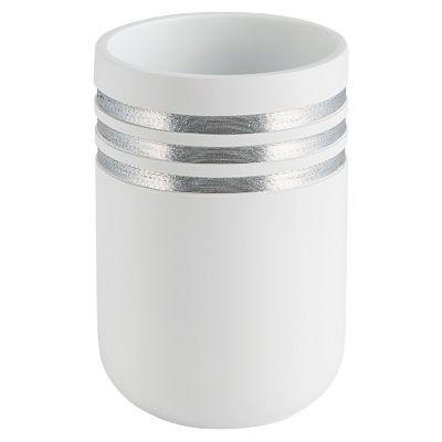 Vaso de baño raya plata