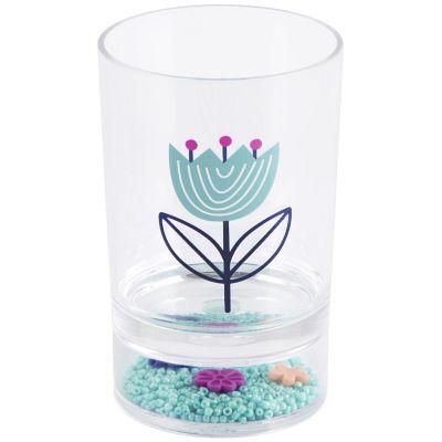 Vaso de baño floral