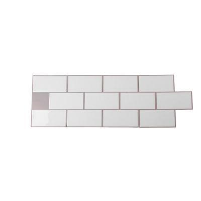 Mosaico autoadherible blanco