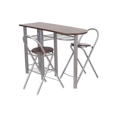 Desayunador plegable con dos sillas wengue