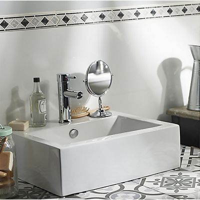 Lavabo de cerámica rectangular 43x31 cm