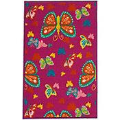 Tapete mariposas rosa 50x80cm