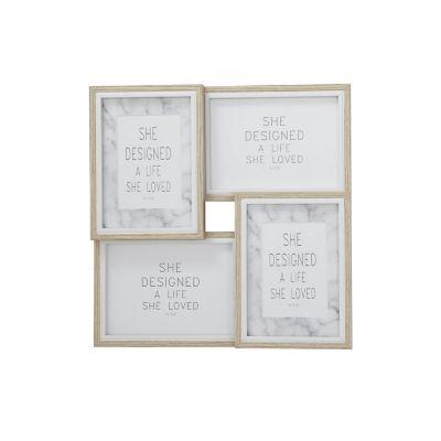 Set de 4 marcos fotos natural 10x15cm