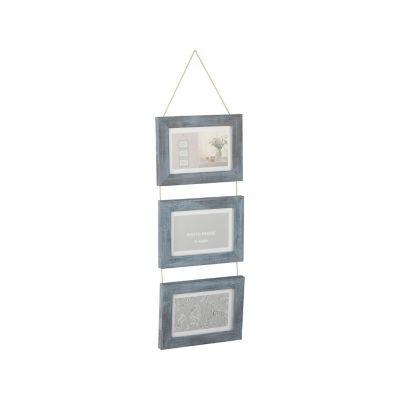 Set de 3 marcos colgantes gris 10x15cm