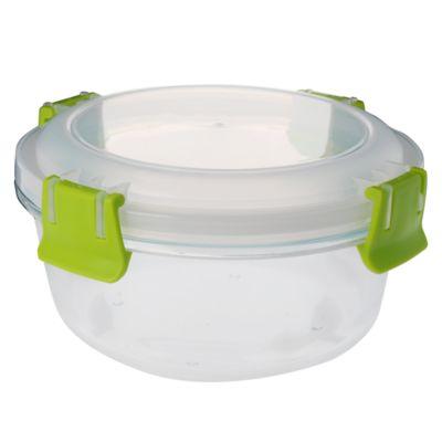 Contenedor vidrio clip color redondo 800ml