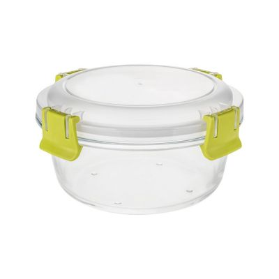 Contenedor vidrio clip color redondo 580ml
