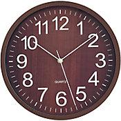 Reloj de pared Wooden oscuro29cm