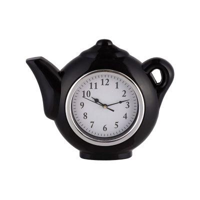Reloj de cocina tetera rojo
