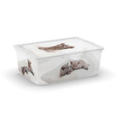 Contenedor de plastico perros y gatos chico