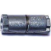 Tirafondos dobles de  de zinc3/8,1 PZ