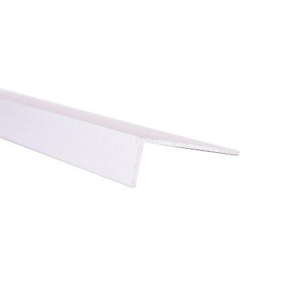 Ángulo disparejo liso 40x15mm Aluminio anodizado plata 1m. Protección de esquinas en paredes y columnas.