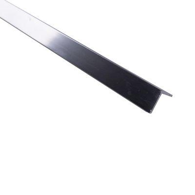 Ángulo parejo liso 10mm Aluminio cromado 1m. Protección de esquinas en paredes y columnas.