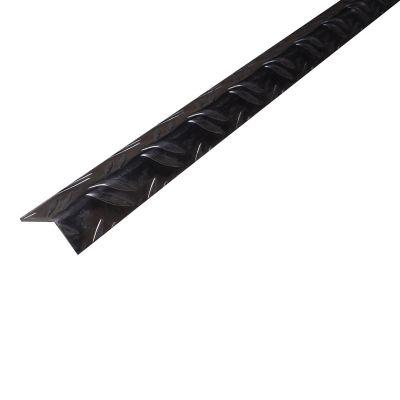 Ángulo disparejo antiderrapante 23.5x43.5mm Aluminio natural 2.5m. Protección de esquinas en paredes y columnas.