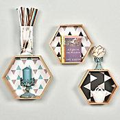 set 3 repisas con diseños hexagonal