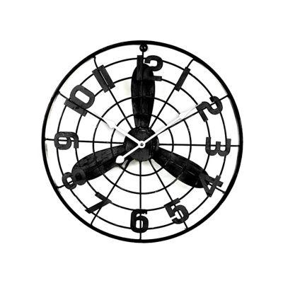 Reloj de pared aspas avión 50 cm.