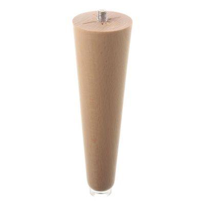 Pata madera conica 150mm laca natural