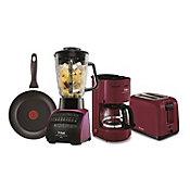 Paquete T-fal Licuadora 14 fun, caf 4 tazas, tostador pan y sarten