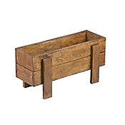 Mesa de cultivo de madera color nogal 60x20cm